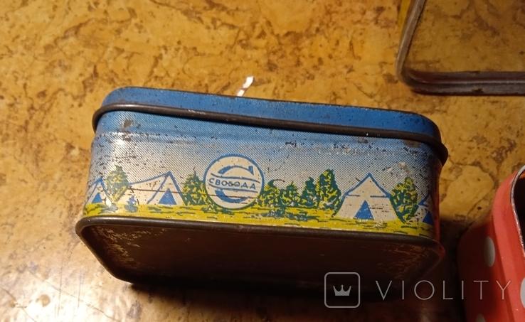 Разные жестяные коробочки. Лот 5 шт., фото №8