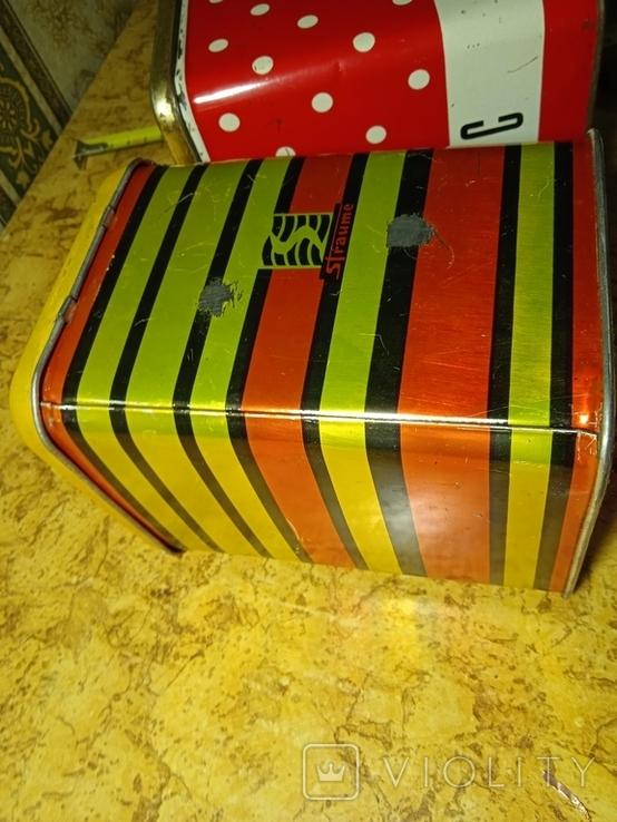 Разные жестяные коробочки. Лот 5 шт., фото №9