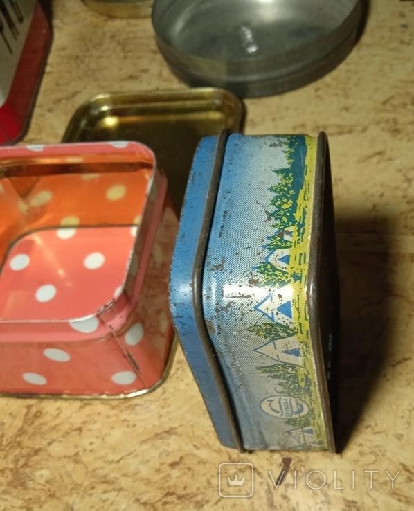 Разные жестяные коробочки. Лот 5 шт., фото №11