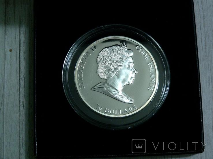 ШЕДЕВРЫ ЖИВОПИСИ. Каналетто - серебро 3 унции, кристаллы Сваровски, фото №3