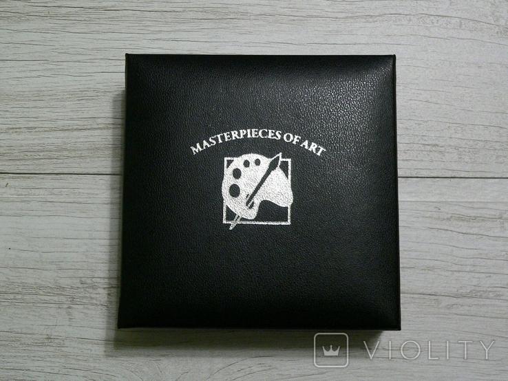 ШЕДЕВРЫ ЖИВОПИСИ. Каналетто - серебро 3 унции, кристаллы Сваровски, фото №6