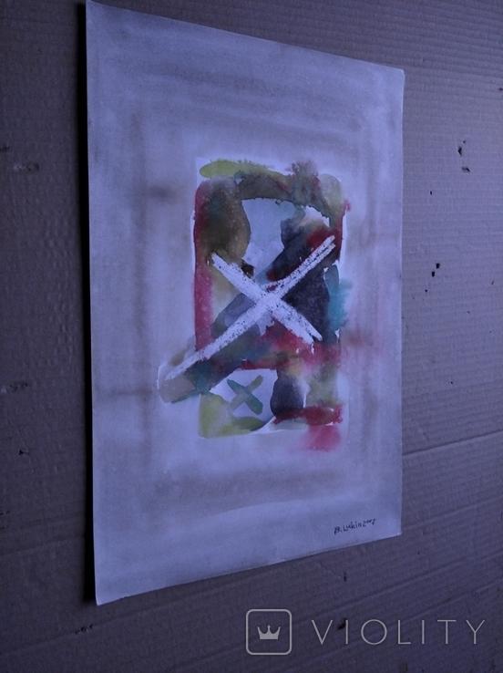 """""""Абстракция"""" б.акв. 37х24. Б.Лукин, фото №6"""