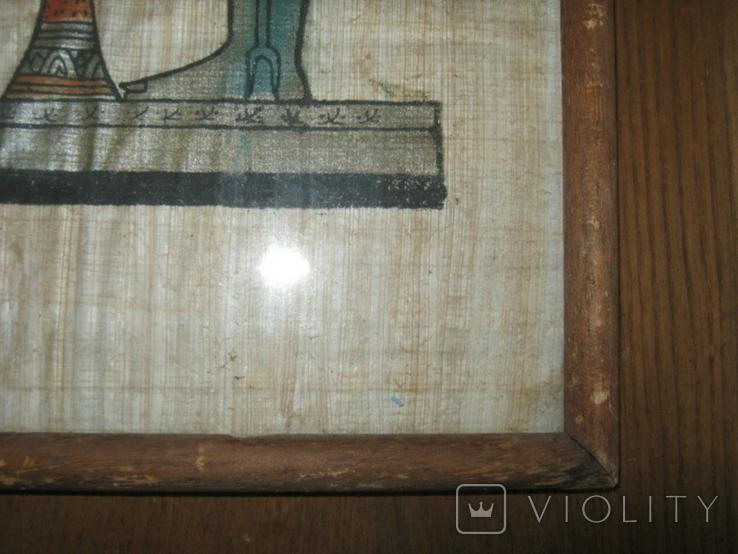 Современный египетский папирус в рамке под стеклом, фото №8