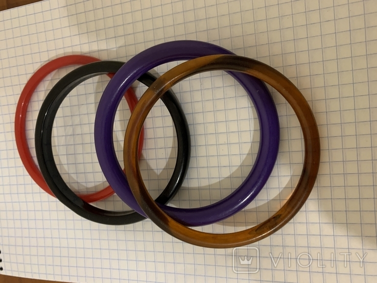 Браслеты пластик 4 штуки, фото №4