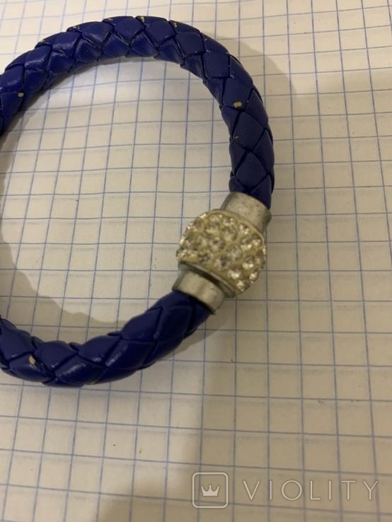 Плетеный браслет на магните, фото №3