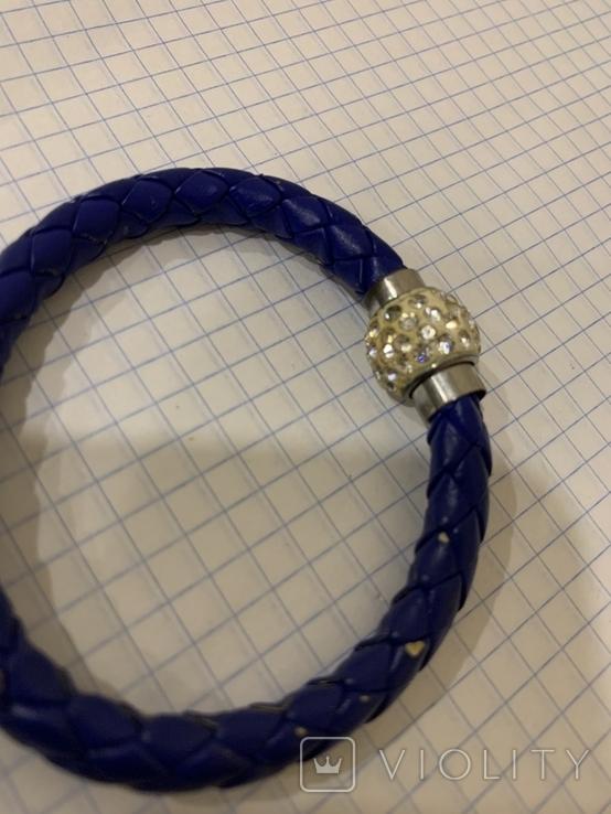 Плетеный браслет на магните, фото №4