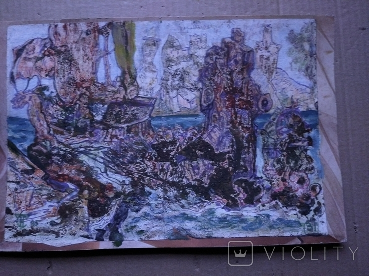 """""""Корабли"""" б.см.техн. 20х30. 1995 г. Сергей Тронов, фото №3"""