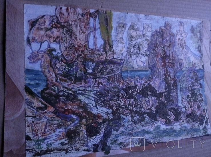 """""""Корабли"""" б.см.техн. 20х30. 1995 г. Сергей Тронов, фото №7"""