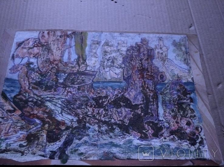 """""""Корабли"""" б.см.техн. 20х30. 1995 г. Сергей Тронов, фото №8"""