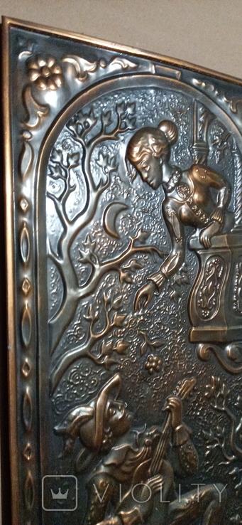 Картина чеканка Песня о любви Сувенір чеканно-декоративний 1987, фото №8