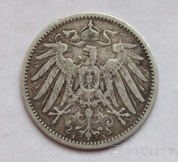 1 марка 1891 г. (А) Германия, серебро, фото №5