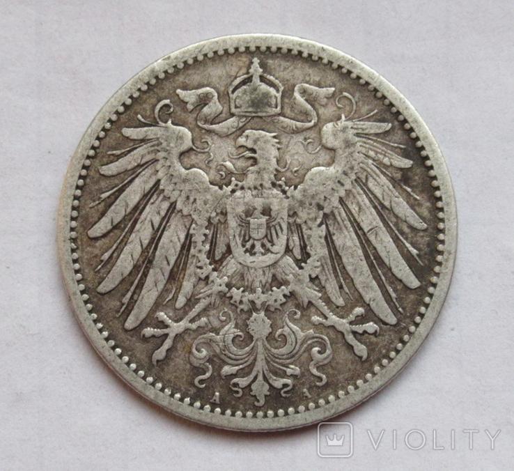 1 марка 1891 г. (А) Германия, серебро, фото №6