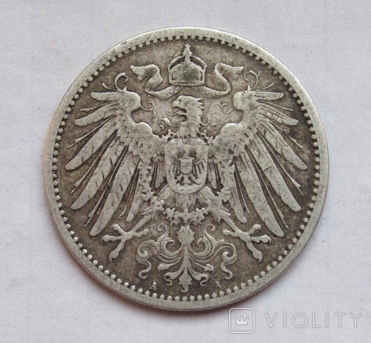 1 марка 1891 г. (А) Германия, серебро, фото №7