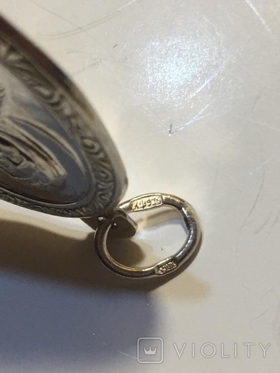 Кулон срібний православний, фото №5