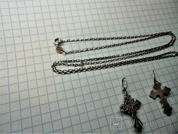Кресты с цепочкой серебро, фото №6