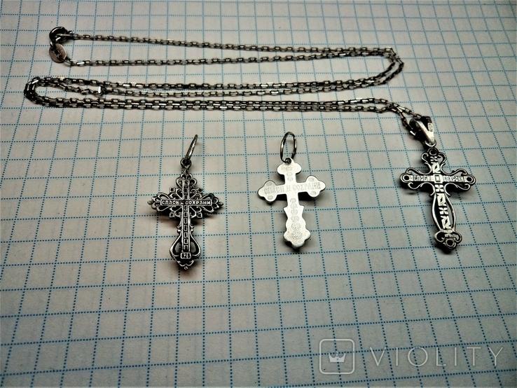 Кресты с цепочкой серебро, фото №7