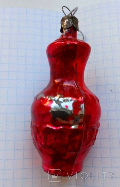 Елочная игрушка Кувшин СССР 1960 г., фото №3