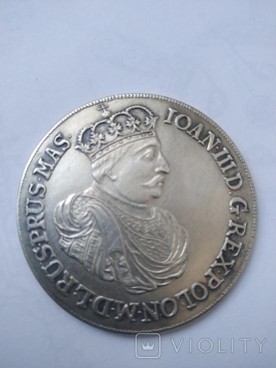 Таллер серебро 925. Копия., фото №3