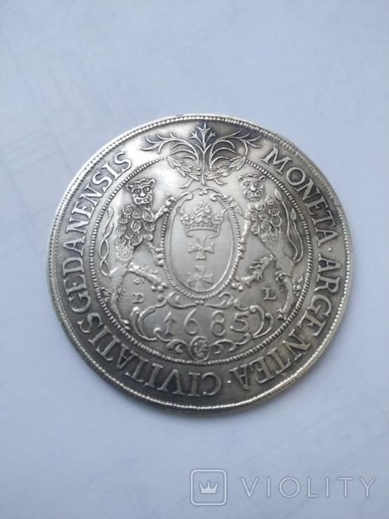 Таллер серебро 925. Копия., фото №4