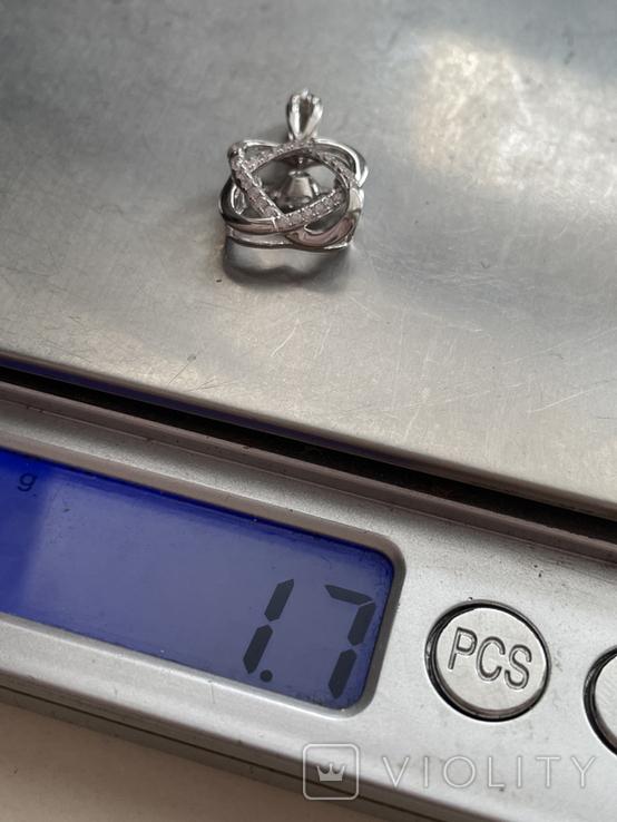 Серебряная подвеска, фото №5