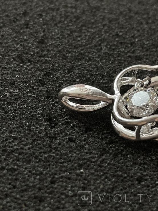 Серебряная подвеска, фото №6