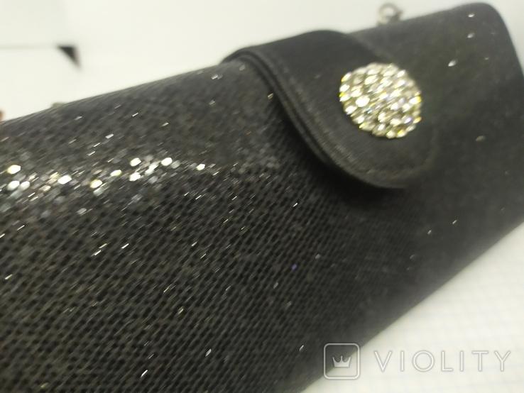 Вечерняя сумочка клатч на длинной цепочке. Accessorize. 17,5х4х8,5см, фото №3
