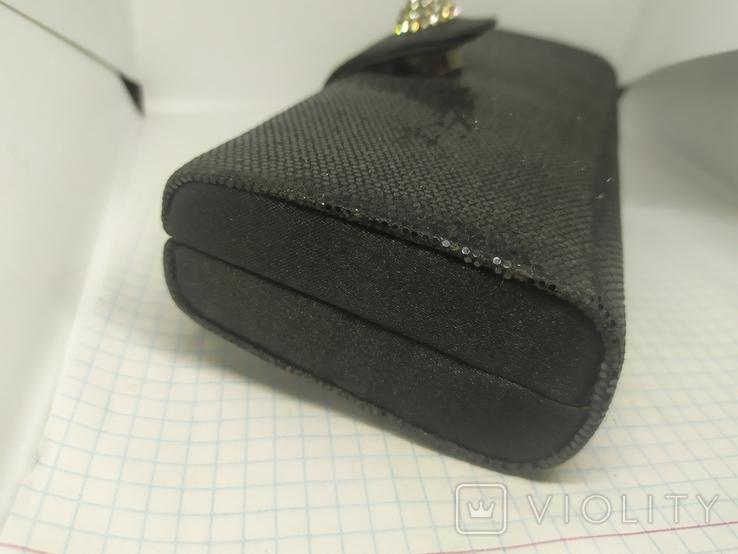 Вечерняя сумочка клатч на длинной цепочке. Accessorize. 17,5х4х8,5см, фото №5