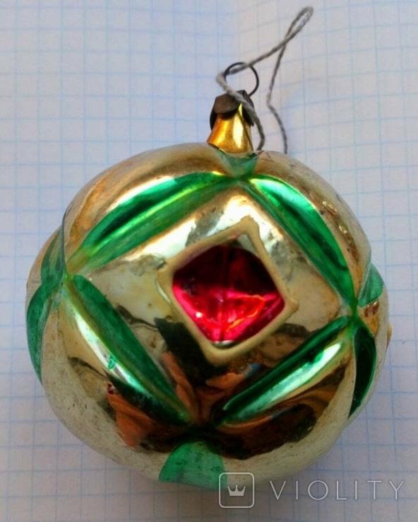 Елочная игрушка Шар с узором СССР, фото №3