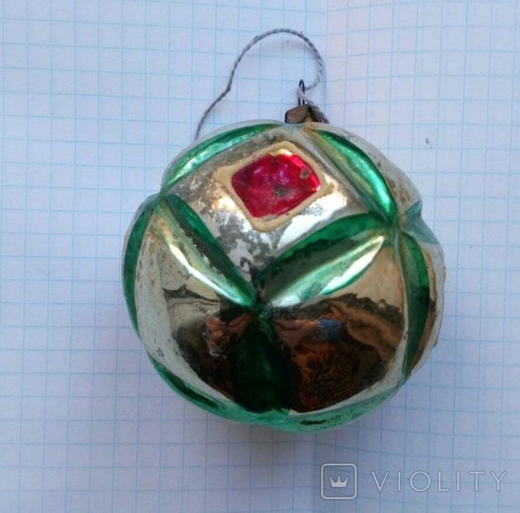 Елочная игрушка Шар с узором СССР, фото №5