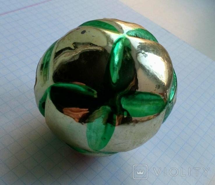 Елочная игрушка Шар с узором СССР, фото №6