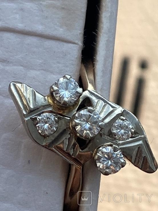 Кольцо советы. Бриллианты, фото №8
