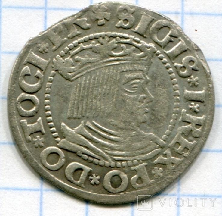 Сігізмунд 1 гріш 1533 рік м. Гданськ Данціг, фото №3