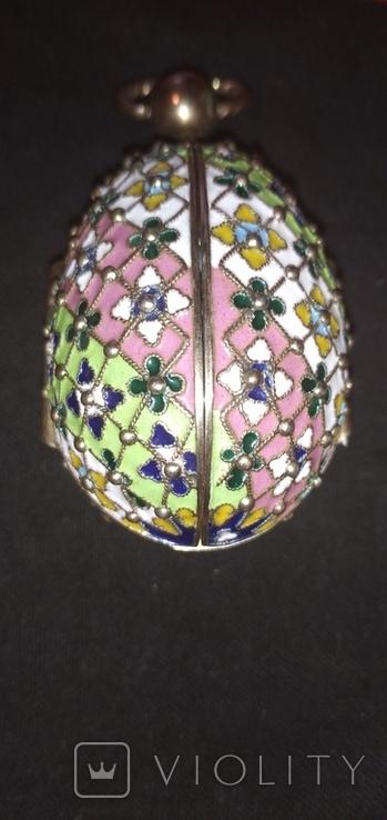 Пасхальное яйцо с финифтями, фото №7