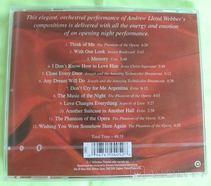 Новый CD  Billy Hutch   The Elegance Of Andrew Lloyd Webber (2002), фото №3