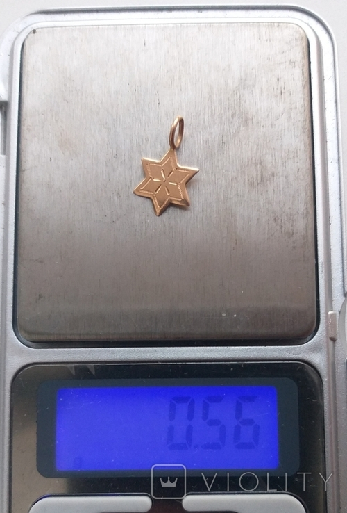 Старинная подвеска звезда давида золото, фото №3