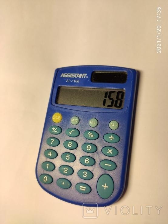 Калькулятор Assistant AC-1108. Рабочий., фото №4