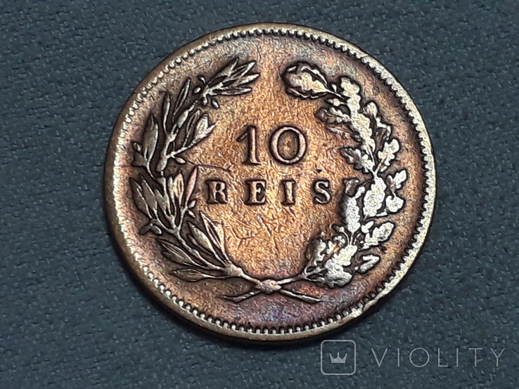 Португалия 10 реалов 1891 года, фото №2