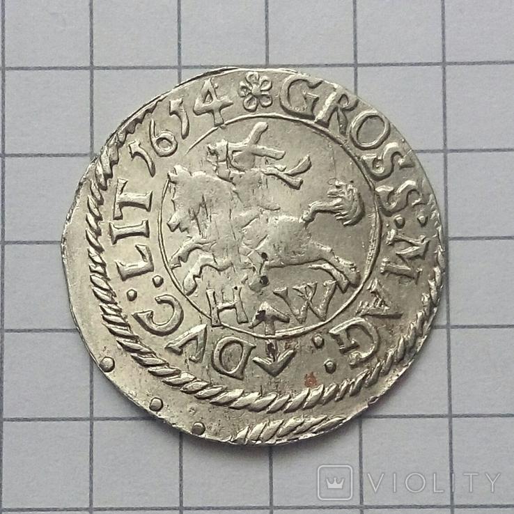 Литовський гріш 1614 року ( H-W ), фото №3