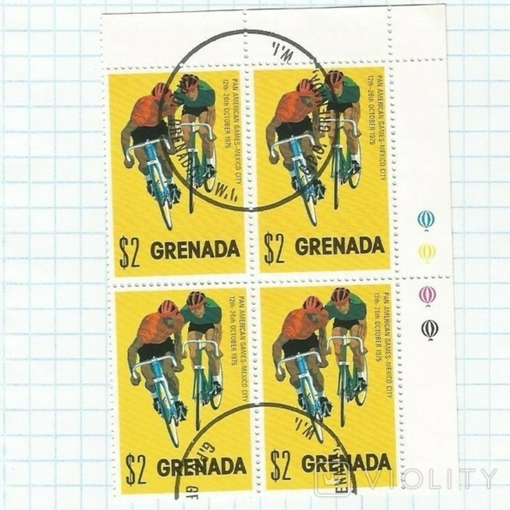 Марка.Гренада .1975  Спорт, фото №2
