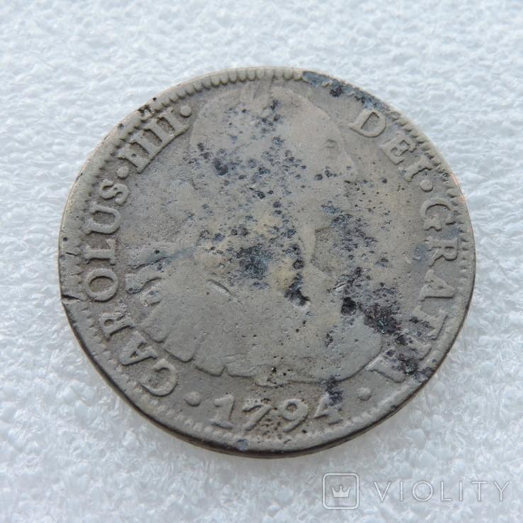 8 реалов 1794 года Испания. Копия., фото №2