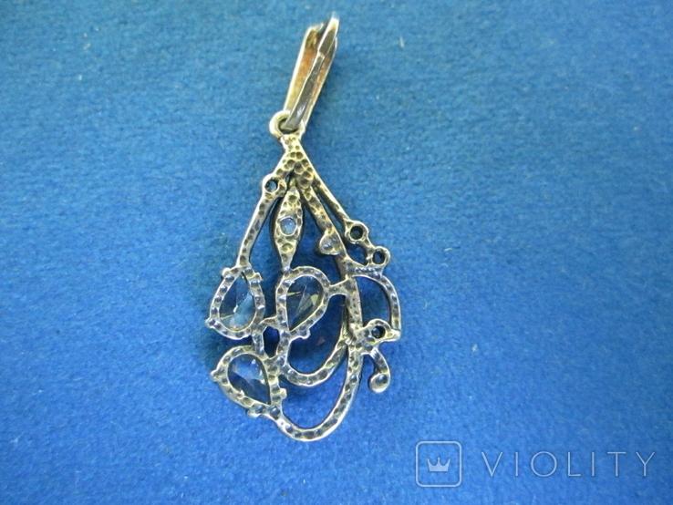 Кулон серебро и цирконии., фото №6