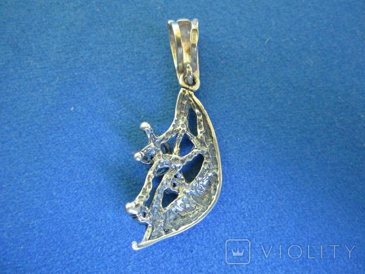 Кулон серебро и цирконии., фото №5