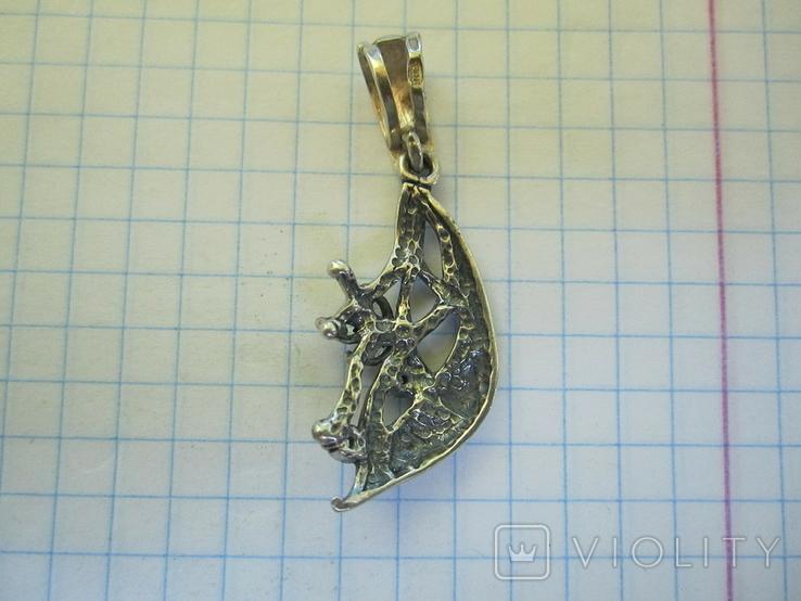 Кулон серебро и цирконии., фото №9
