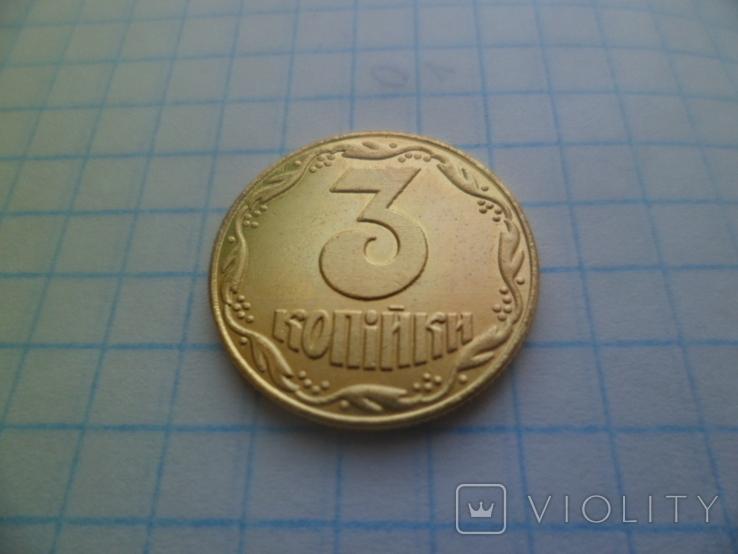 Украина 3 копейки 1992 год пробная монета копия, фото №3