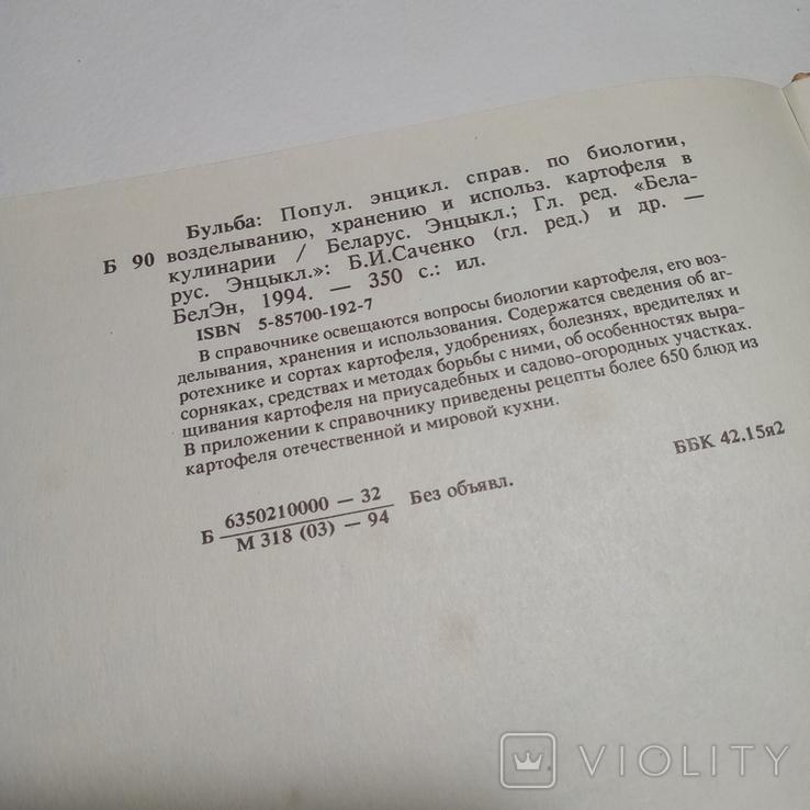 1994 Бульба БЕЛАРУСКАЯ ЭНЦЫКЛАПЕДЫЯ (картофель, кулинария), фото №13