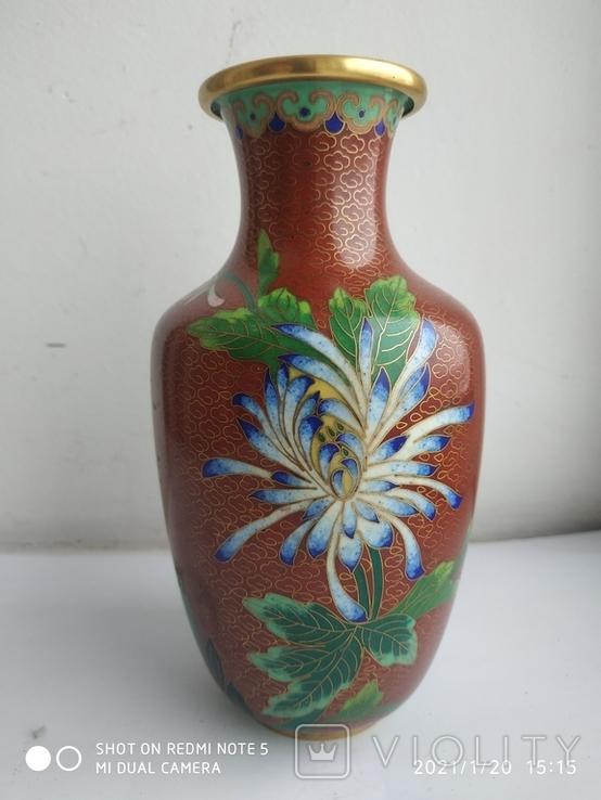 Старая ваза . Клуазоне. 1.