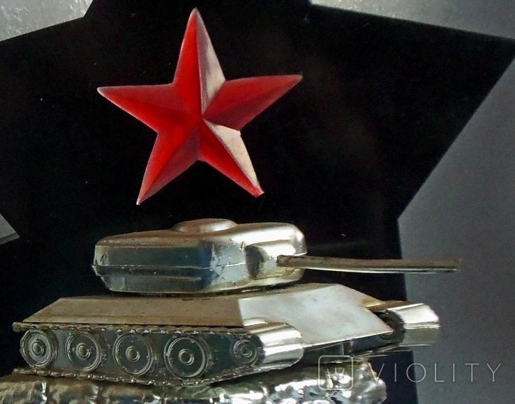 Памятник танк, сувенир. Слава Советской армии., фото №13