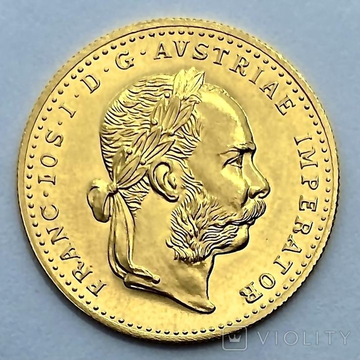 1 дукат. 1915. Франк Иосиф. Австрия. (золото 986, вес 3,49 г), фото №2