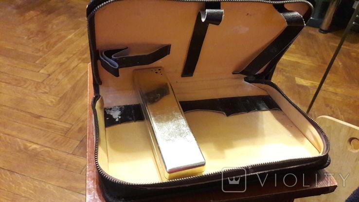 Несессер инструментария для бритья, кожа. СССР, фото №5
