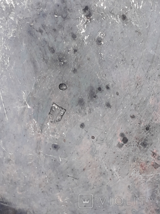 Какой-то сосуд - то ли видпош, то ли плевательница и т. п., серебро, 83+ грамма, фото №6